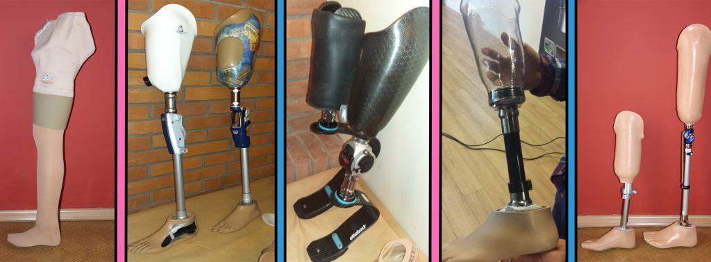 protezy nogi do chodzenia oraz biegania, różne modele protez